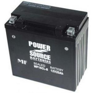 Power Source    12 Volt  Battery (WP16CL-B),  Sealed AGM