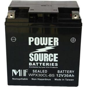 Power Source    12 Volt  Battery (WP30-12RNE), Sealed AGM