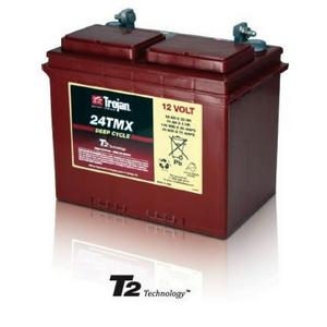 Trojan 24TMX: 12V Deep Cycle Flooded Battery with T2 Technology, 600 CYCLES @ 50% DOD
