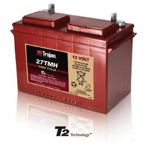 Trojan 27TMH: 12V Deep Cycle Flooded Battery with T2 Technology, 600 CYCLES @ 50% DOD