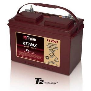 Trojan 27TMX: 12V Deep Cycle Flooded Battery with T2 Technology, 600 CYCLES @ 50% DOD