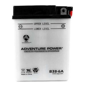 UPG Power Sport 6V Conventional Battery (B38-6A), Acid Pack Included