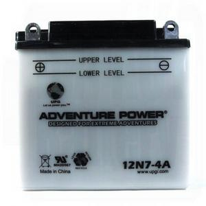UPG Power Sport  12V Conventional Battery (12N7-4A), Acid Pack Included