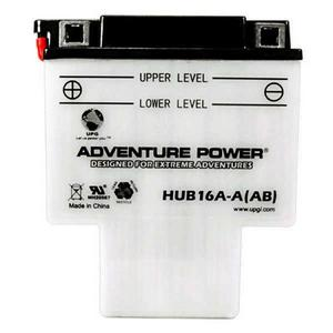 Adventure Power Sport 12 Volt 16AH Wet Battery (HUB16A-AB) with Acid Pack