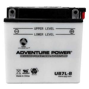 Adventure Power Sport 12 Volt 8AH Wet Battery (UB7L-B) with Acid Pack