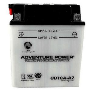 Adventure Power Sport 12 Volt 11AH Wet Battery (UB10A-A2) with Acid Pack