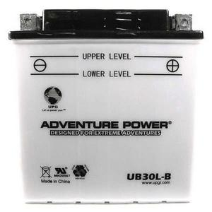 UPG Power Sport 12 Volt Battery (UB30L-B), Acid Pack Included
