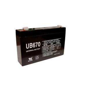 Universal Sealed AGM 6 Volt 7AH Battery (UB670)
