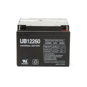Universal Sealed AGM 12 Volt 26AH Battery (UB12260)