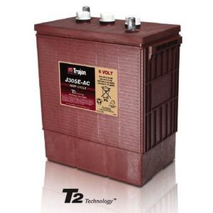 Trojan J305E-AC: 6V Deep Cycle Flooded Battery with T2 Technology