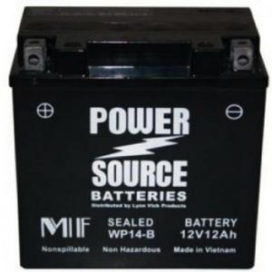 Power Source 12 Volt Battery (WP14-B), Sealed AGM