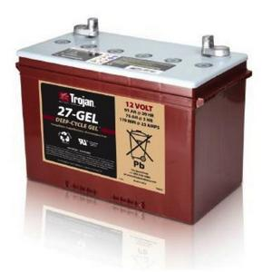 Trojan- 27-GEL: 12V Deep-Cycle GEL Battery), 1,000 CYCLES @ 50% DOD