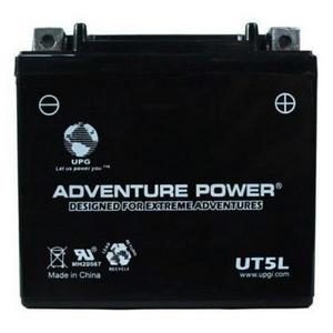 UPG Power Sport 12V Battery (UT5L), Sealed AGM