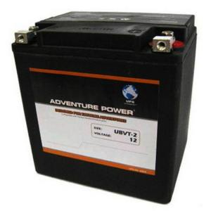 UPG Power Heavy Duty 12 Volt Battery (UBVT-2) - Note: This battery has flush mount terminals especially designed for Harley applications, Sealed AGM