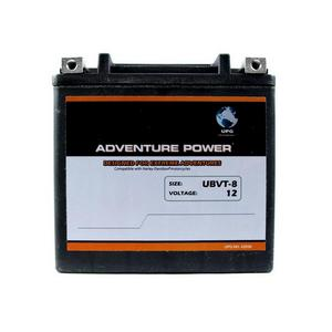 UPG Power Heavy Duty 12 Volt Battery (UBVT-8) - Note: This battery has flush mount terminals especially designed for Harley applications, Sealed AGM