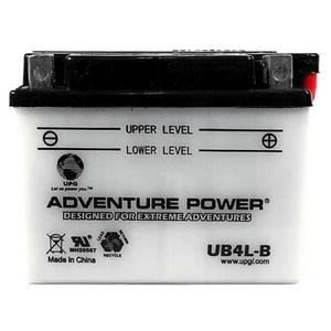 UPG Power Sport 12 Volt Battery (UB4L-B), Acid Pack Included