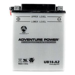 UPG Power Sport 12 Volt Battery (UB14-A2), Acid Pack Included