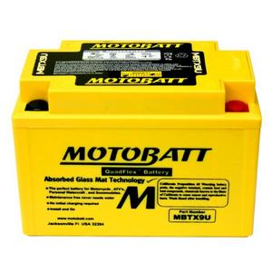 MOTOBATT MBTX9U - 12Volt Absorbed Glass Mat (AGM) Battery