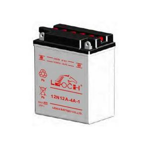 LEOCH Power Sport 12 Volt Battery (12N12A-4A-1), Conventional Battery with Acid Pack