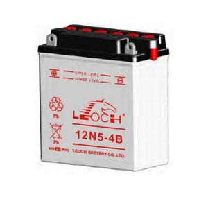 LEOCH Power Sport 12V  (12N5-4B), Conventional Battery with Acid Pack