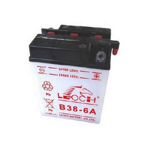 LEOCH Power Sport 12 Volt Battery (B38-6A), Dry Charged AGM Maintenance Free