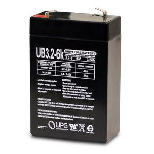 Universal Sealed AGM 6 Volt 3.2AH Battery (UB632)