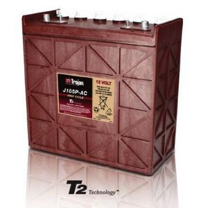 Trojan J185P-AC: 12V Deep Cycle Flooded Battery with T2 Technology, 1,200 CYCLES @ 50% DOD