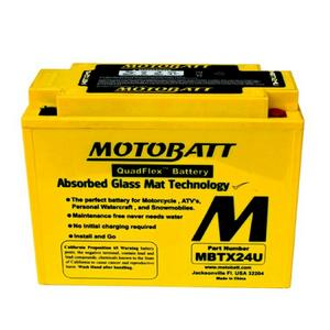 MOTOBATT MBTX24U - 12Volt Absorbed Glass Mat (AGM) Battery