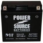 Power Source    12 Volt  Battery (WP14B-4),  Sealed AGM